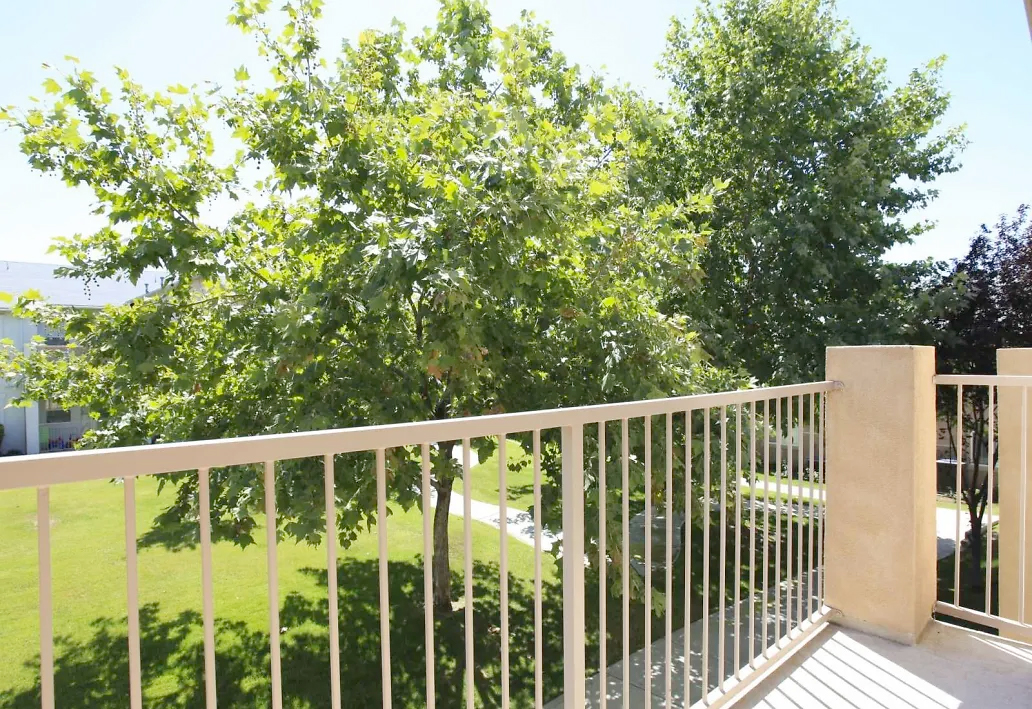 A view of Belcourt Apartments balcony